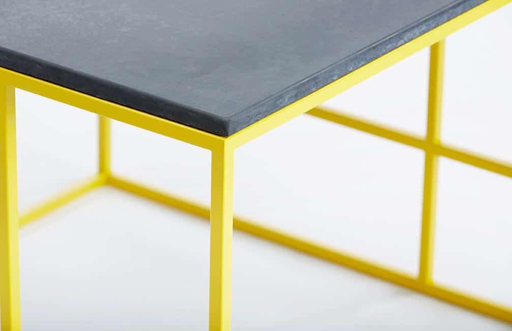 La Coffee Table Yellow Frame